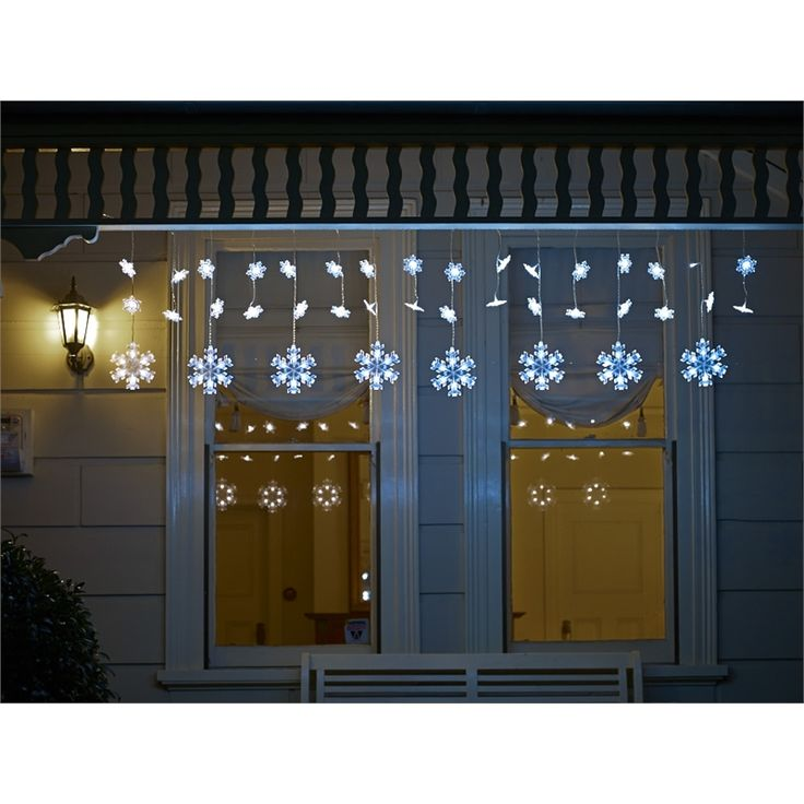 Rouge 80 LED Festive Light Curtain Snowflake
