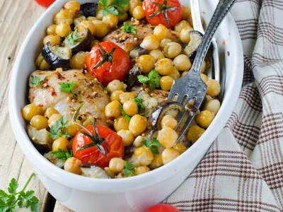 Hearty Chickpea and Chicken Stew