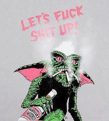 Language, I know.  But if you had to some up the greatness of the Gremlin movies... this is it.
