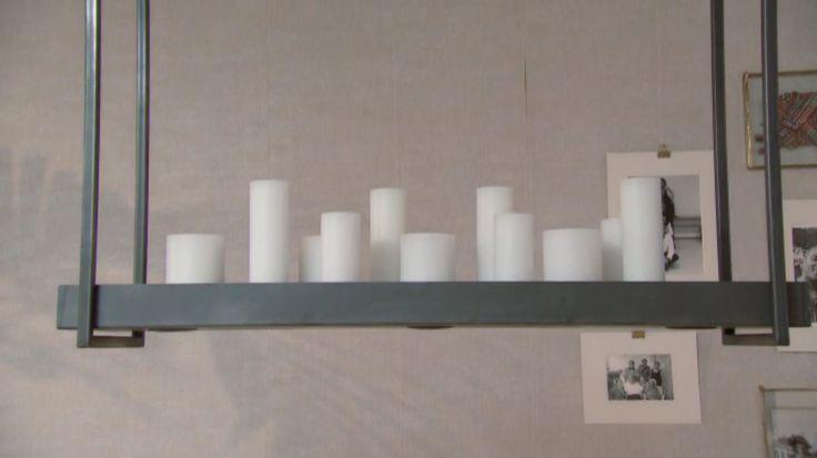 Hanglamp Vorm - Goossens Wonen; spots, bovenop ruimte voor accessoires/kaarsen