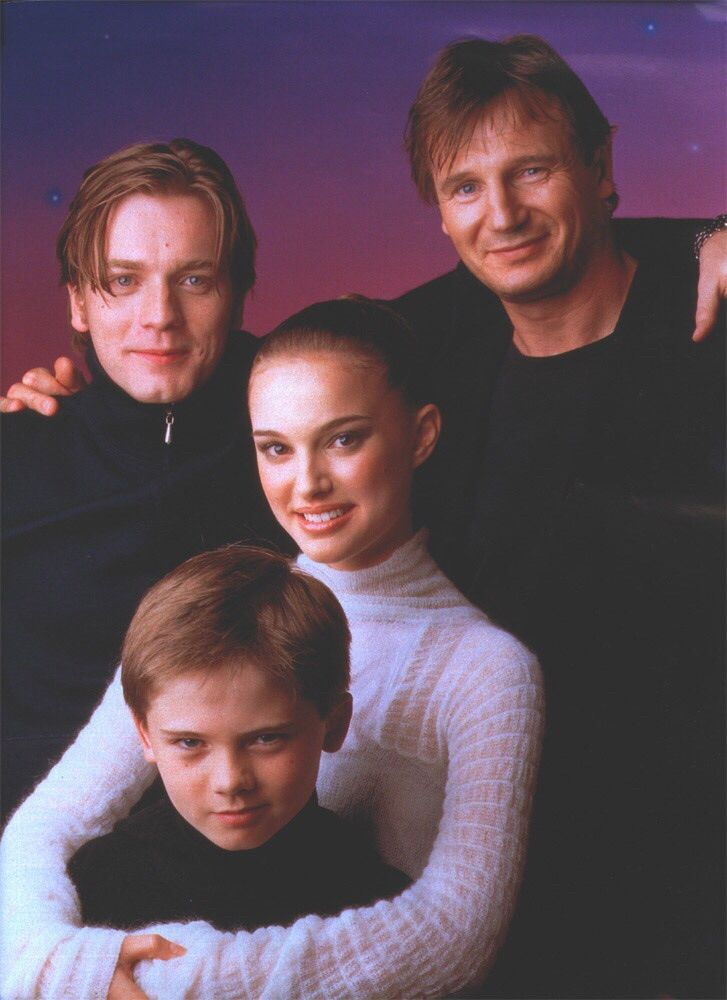 Ewan McGregor, Liam Neeson, Natalie Portman, and Jake Lloyd