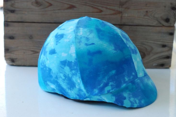 TYE DIE turquoise Equine Helmet Cover equestrian wear Handmade Horse Tack bike helmet by TheStitchingHorse on Etsy https://www.etsy.com/listing/206382729/tye-die-turquoise-equine-helmet-cover