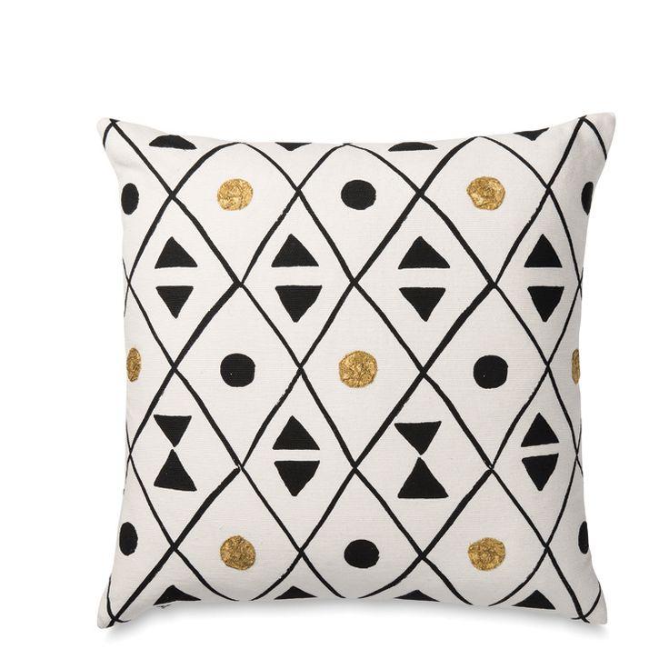 Pinasse Cushion Cover w/Gold Applique | Citta Design $64.90