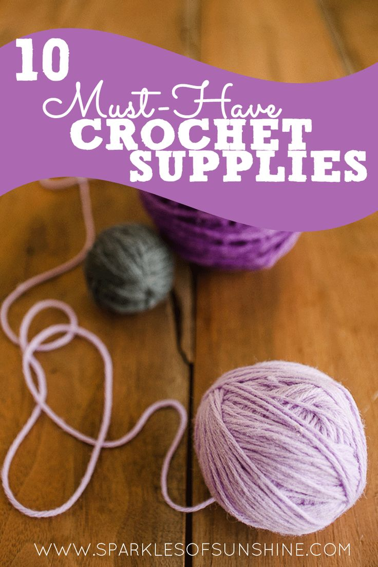 Do you ever wonder which crochet supplies are essential? Check out these list of 10 must-have crochet supplies to make sure you have what you need!