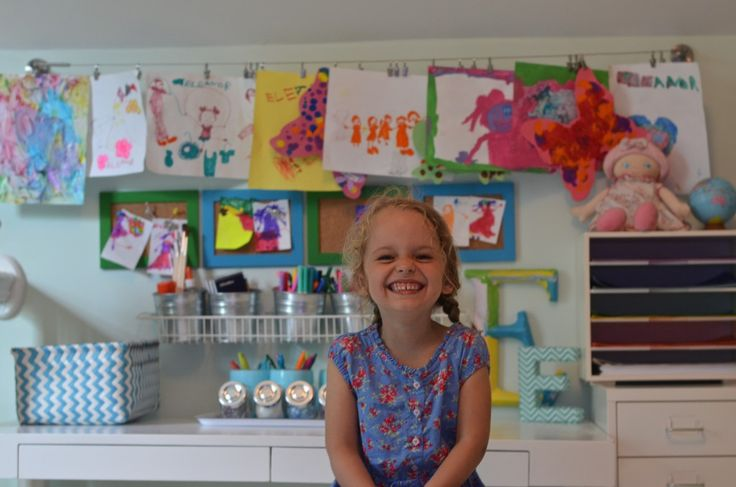 The cutest kids art space EVER. I love it!