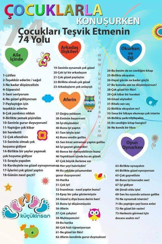 Çocuklarla konuşurken çocukları teşvik etmenin yolları