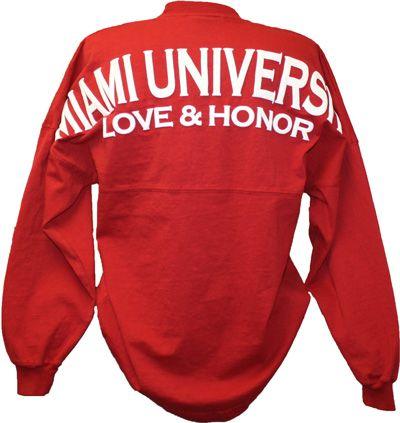 Spirit Football Jersey Miami University Love & Honor