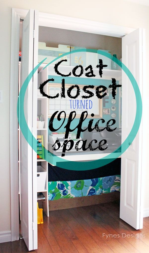 office closets. in bad need of closet storage so i gave it a makeover office closets