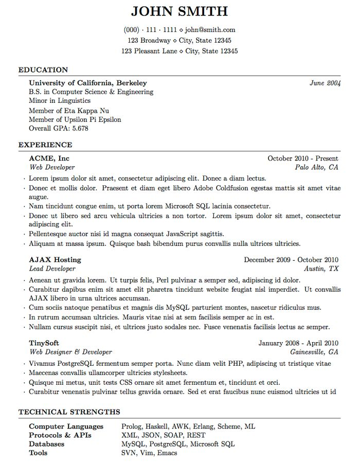 7 best Resume Templates images on Pinterest Resume, Curriculum and