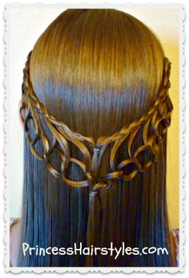 Feather Chain Braid Hairstyle Tutorial princesshairstyles.com