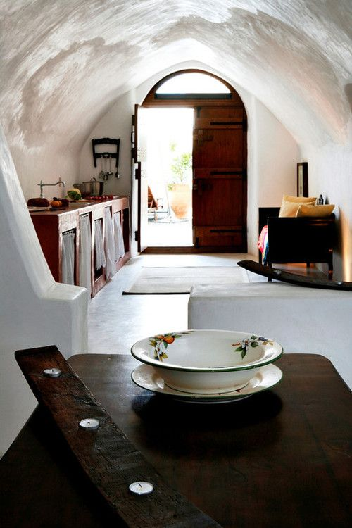 Wonderful cob house with open kitchen and dining area