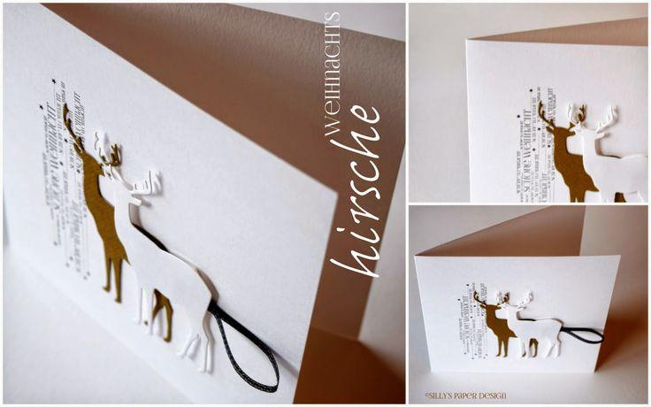 silly's paper design: weihnachts-hirsche ...
