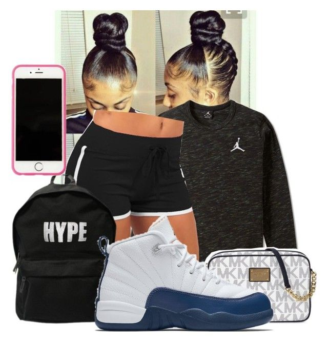 """Tuesday Night...Sleeping over aty auntie jahzi and uncle Marlon"" by illestqveen ❤ liked on Polyvore featuring NIKE, ASAP, Michael Kors and Lilly Pulitzer"