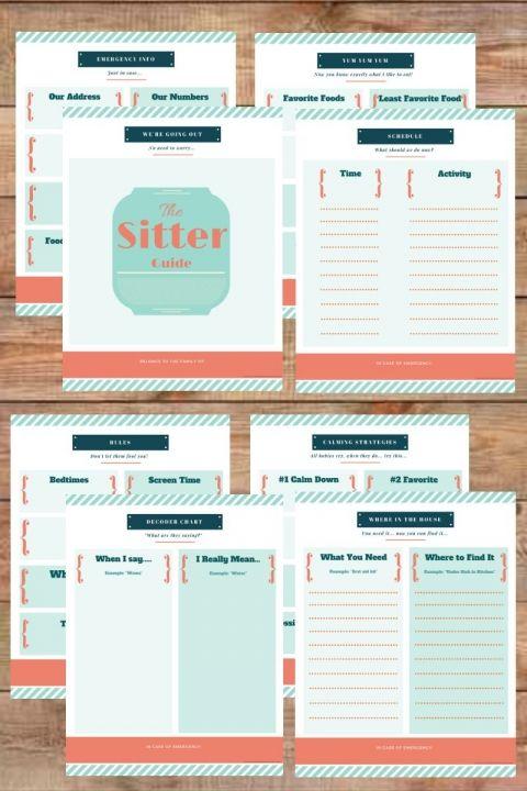 Best 25+ Babysitter printable ideas on Pinterest Babysitter - printable contact list
