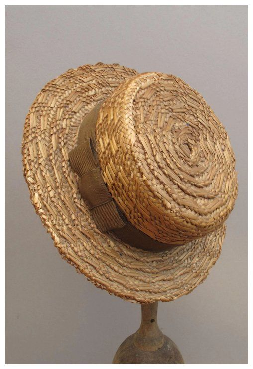 Wonderful Miniature Men s Straw Boater Hat by Moore Smith  718948380409