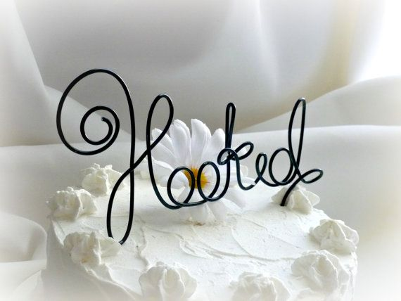 Fishing Wedding & Shower Cake Topper by HomesAndWeddings on Etsy