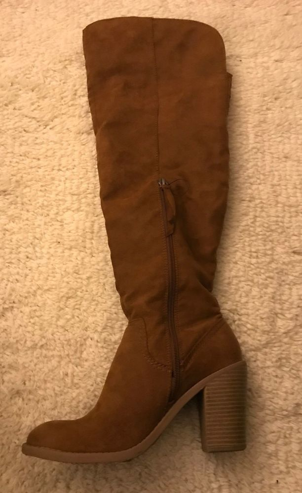 5e2b05ee4 Suede Over the Knee Boots Target Brand Womens 8.5 #fashion #clothing ...