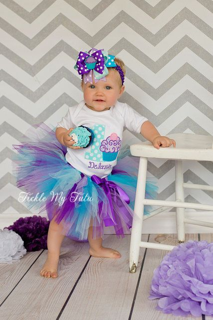 Cupcake Swirl Delanie  Birthday Tutu Outfit  First by TickleMyTutu, $54.95