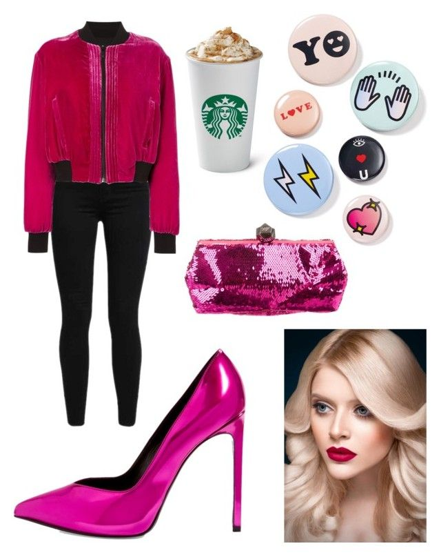 """""""Senza titolo #457"""" by kirsten-weigh on Polyvore featuring moda, Levi's, County Of Milan, Bing Bang, Yves Saint Laurent e Roger Vivier"""