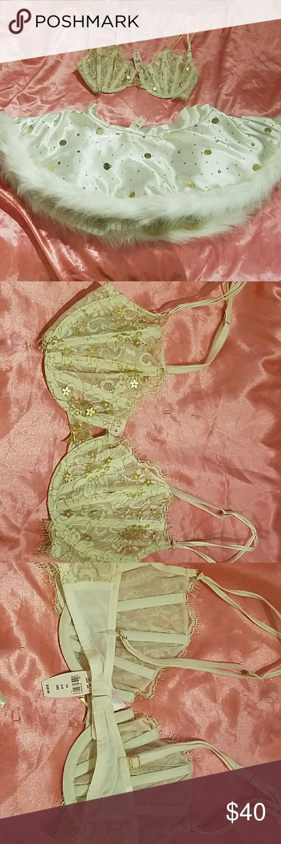 NWT Victoria Secret Lingerie Set (34C small) NWT Victoria Secret lingerie set (never worn size small) some of the sequins are loose/ bra 34C Victoria's Secret Intimates & Sleepwear Chemises & Slips