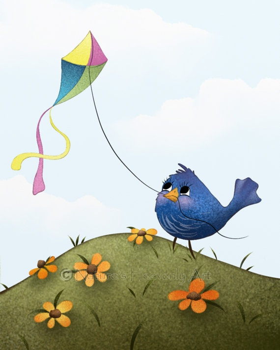 flying kite illustration - photo #29