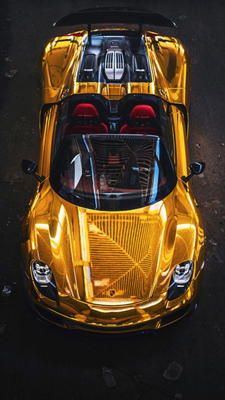 Porsche 918 Gold