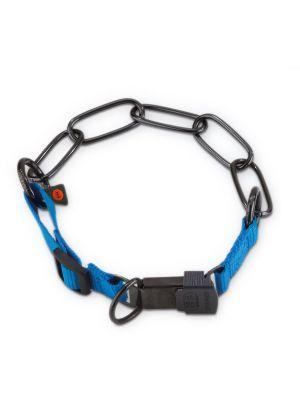 Herm Sprenger Black Stainless Steel and Nylon Fur Saver Collar