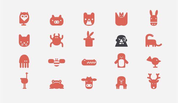 bariol icons by atipo , via Behance