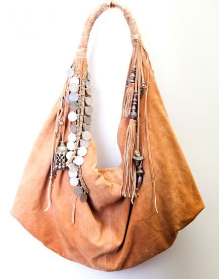 Drooling over this Simone Camille Moon Bag. Buttery leather, adorned with coins & other silver trinkets. So much good!