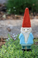 Gnome -- by a local artist.