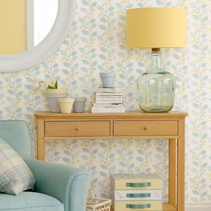 Spring Trail Duck Egg Blue Floral Wallpaper For The Home Duck