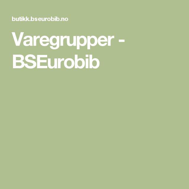 Varegrupper - BSEurobib Oversikt over alle etiketter med trykk for merking av bøker