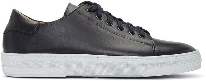 A.P.C. Navy Tennis Sneakers