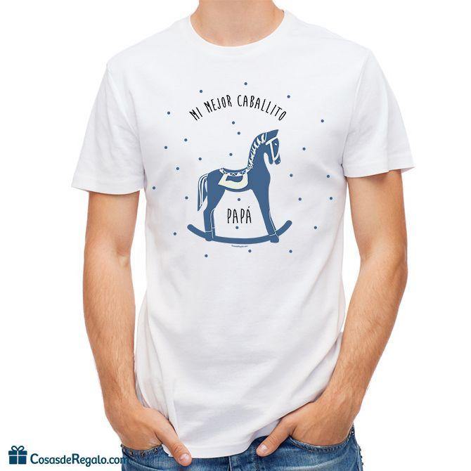 Camiseta original Mi mejor caballito papá para hombre