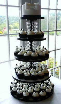 14 best Black & White Wedding Cupcakes images on Pinterest   White ...