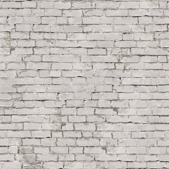 Antique White Painted Brick Mural Peel N Stick Or Traditional Prepasted Vinyl Free Non Toxic Brick Interior Wall White Brick Wallpaper Brick Wall Wallpaper