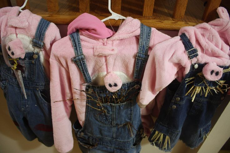 3 Little Pigs snouts, hoodies, overalls and accents