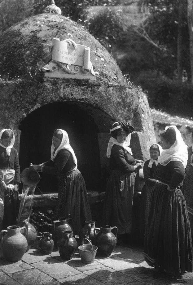Boissonnas-Γαστούρι Κέρκυρα,στην πηγή της αυτοκράτειρας Ελισάβετ,1903.
