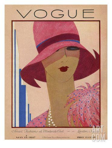 Art.fr - Reproduction procédé giclée Premium 'Vogue Cover - May 1927' par Harriet Meserole
