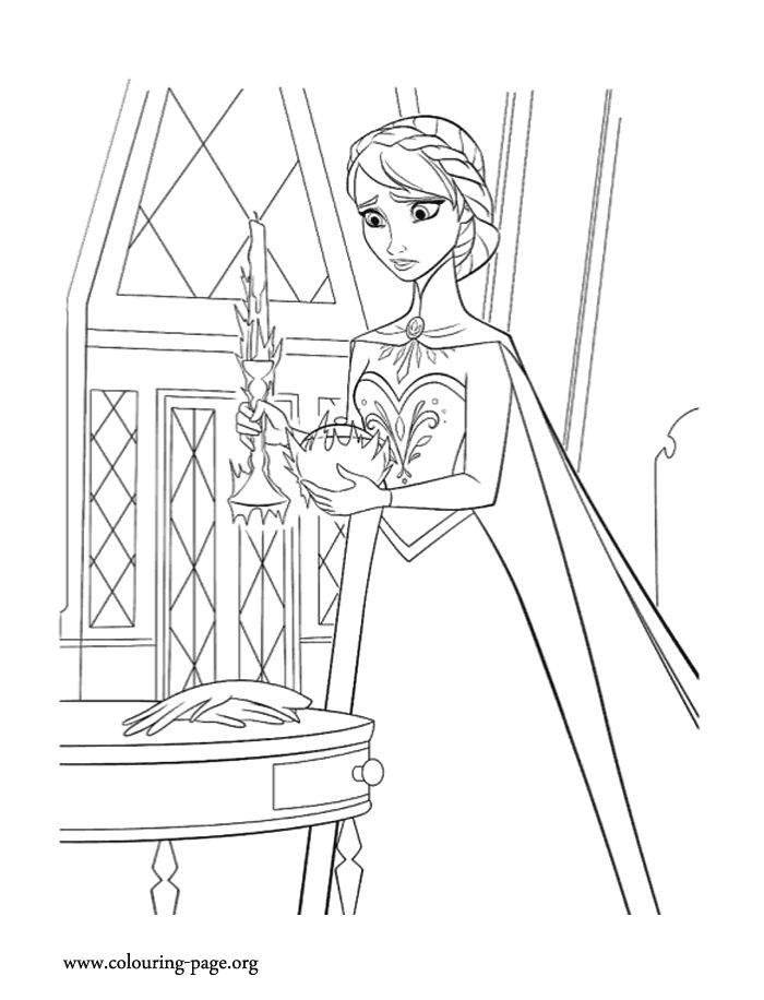Look! It seems that Elsa still does not control her magic powers. Come check out and have fun coloring this amazing picture from Disney Frozen movie!