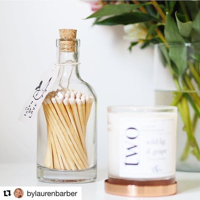 The lovely @bylaurenbarber filling my feed with gorgeous photos (especially this one of my candles and matchsticks!) Thank you for the beautiful picture 😍😍