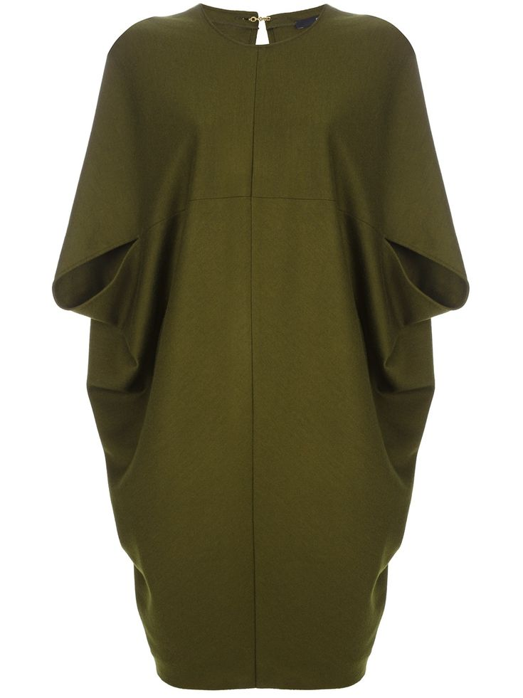 Gucci Boxy Cocoon Dress in Green (olive)