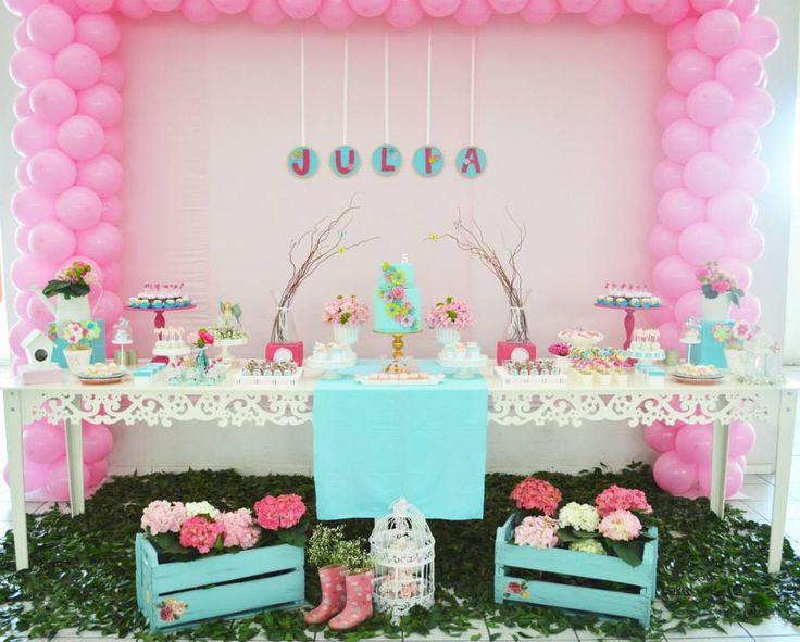 Enchanted Garden Party / Bird Theme / #babyshowerideas