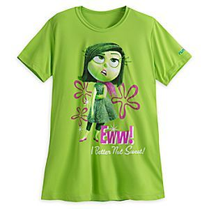 Disgust runDisney Performance Tee for Women   Disney StoreDisgust runDisney Performance Tee for Women - This runDisney performance tee featuring Disgust from Disney%u2022Pixar <i>Inside Out</i> will always make things cool again. Ensure ''Every Mile is Magic'' as you keep the drama to a minimum!