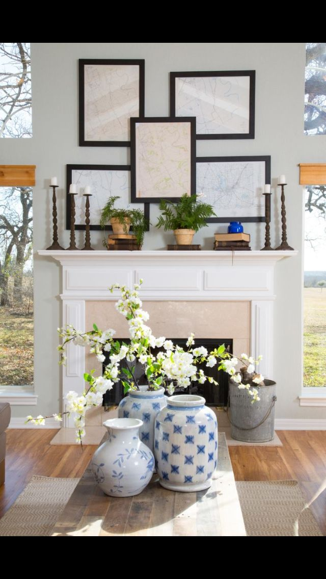 From HGTV's Fixer Upper  I love those framed maps!!!! Saw that on the show m