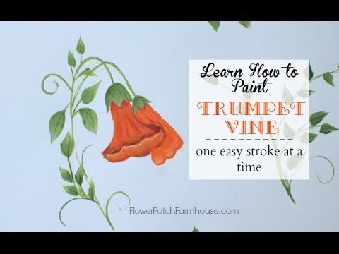 Learn How to Paint Beautiful Trumpet Vine
