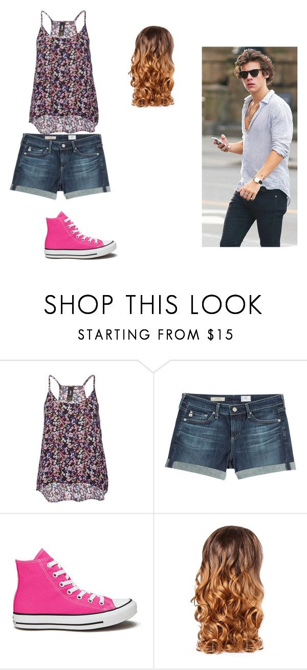 """Boardwalk Outfit"" by broken-life909 on Polyvore featuring AG Adriano Goldschmied, Converse and Lipsy"