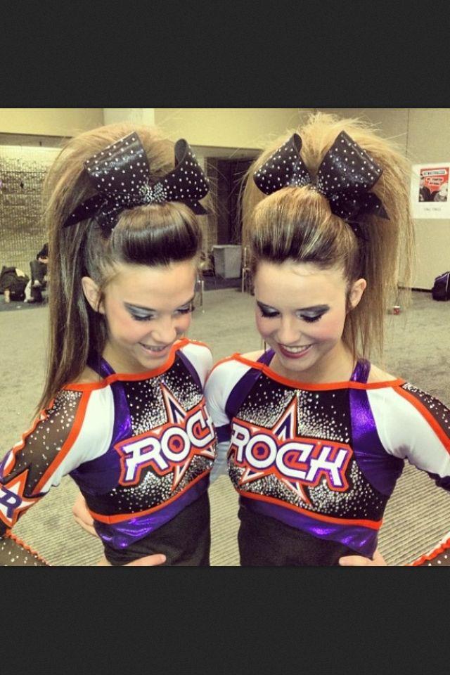 Cheer hair Rockstar Beatles Cheerleading Poof Teased big bow pretty