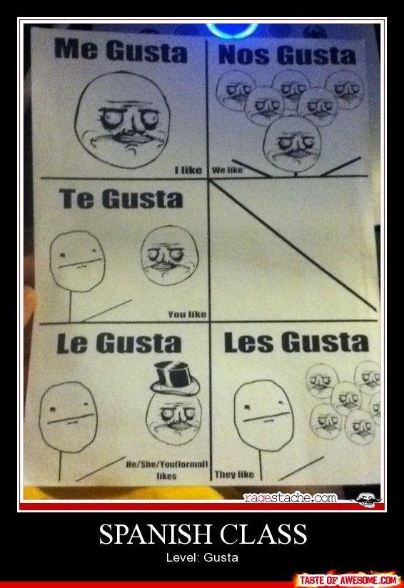 I wish I was teaching Spanish. Me gusta.
