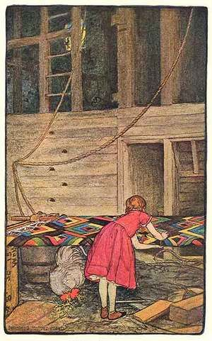 """Elizabeth Shippen Green for """"The Thousand Quilt"""""""